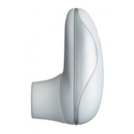 Бело-серебристый вакуумный стимулятор клитора Womanizer Starlet