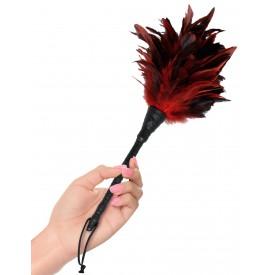 Кисточка с красно-чёрными пёрышками FRISKY FEATHER DUSTER - 36 см.