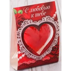"""Свеча-сердце """"С любовью к тебе"""""""